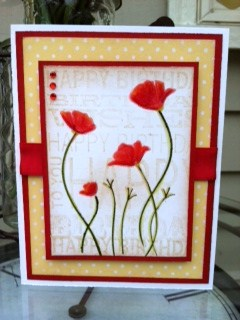 MBO Luminous Poppies Card Donna 18