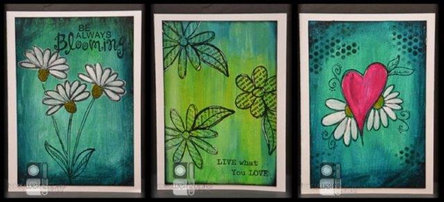 TW Mixed Media Cards